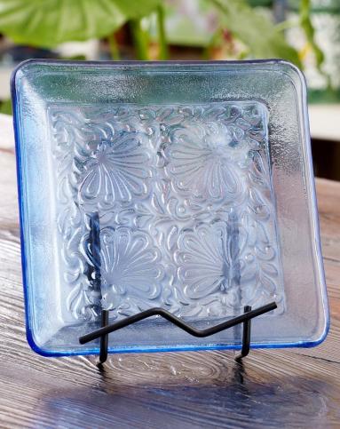 > 海洋系列热熔手绘玻璃果盘