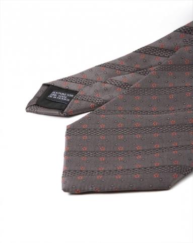 灰色绅士时尚印花领带