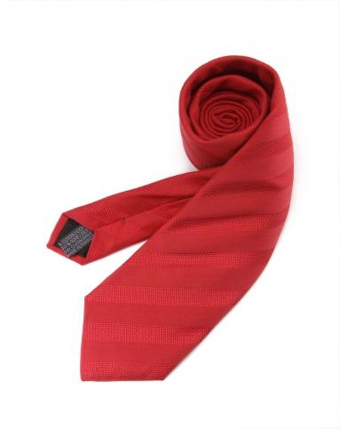 大红色稳重商务斜纹领带