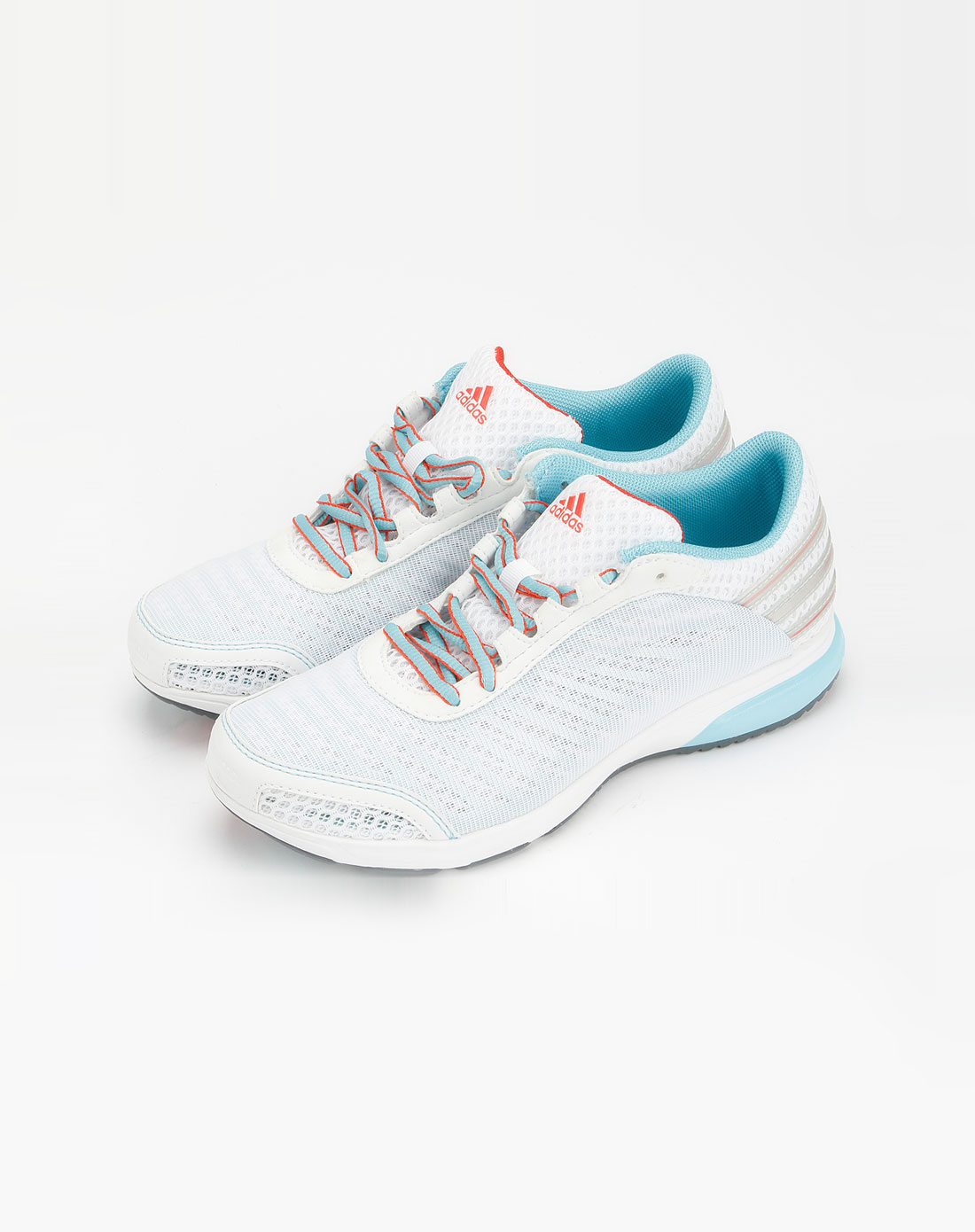 阿迪达斯adidas-sp 女款白/浅蓝色镂空运动鞋g12897图片