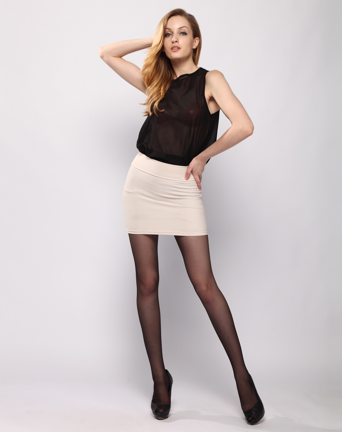 女黑礹/&�yi)��-z)�bi_女款4双装黑色百合花香加档连裤袜