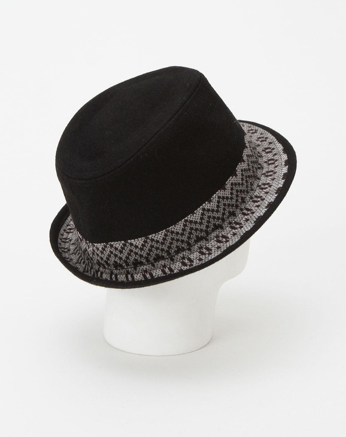 男款时尚都市黑色绅士礼帽