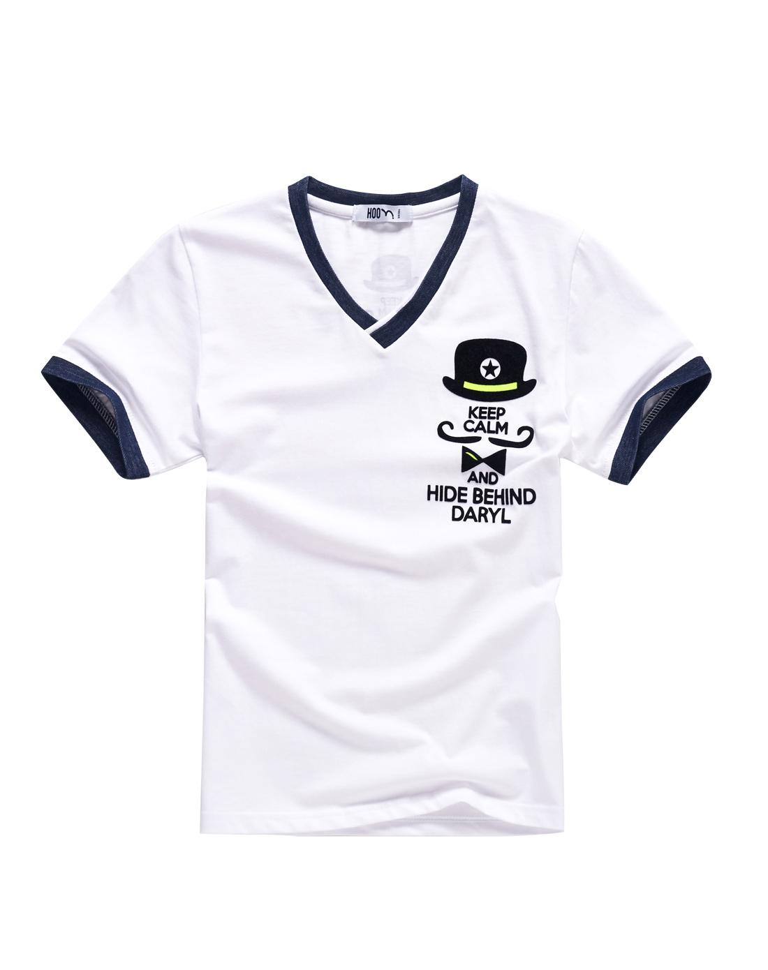 男童大白短袖t恤