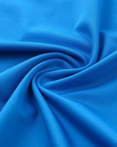 男款彩蓝色抗撕裂锦纶面料丝滑高弹质感速干t恤