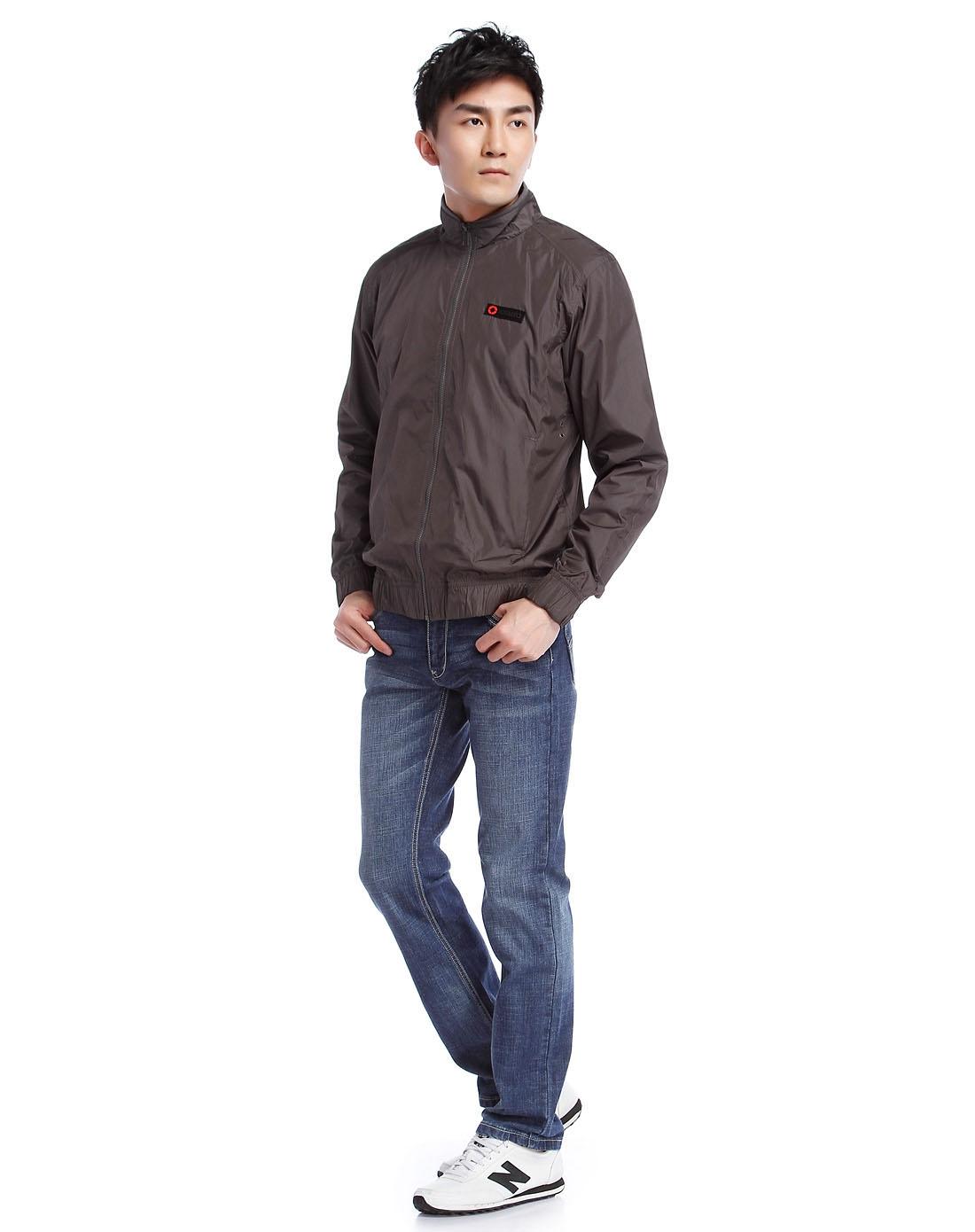 耐克nike 灰色长袖夹克