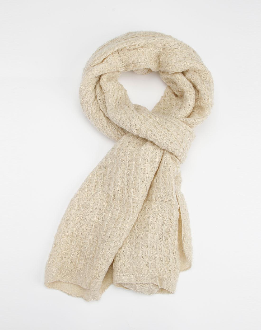 popova米色围巾p12wb-54