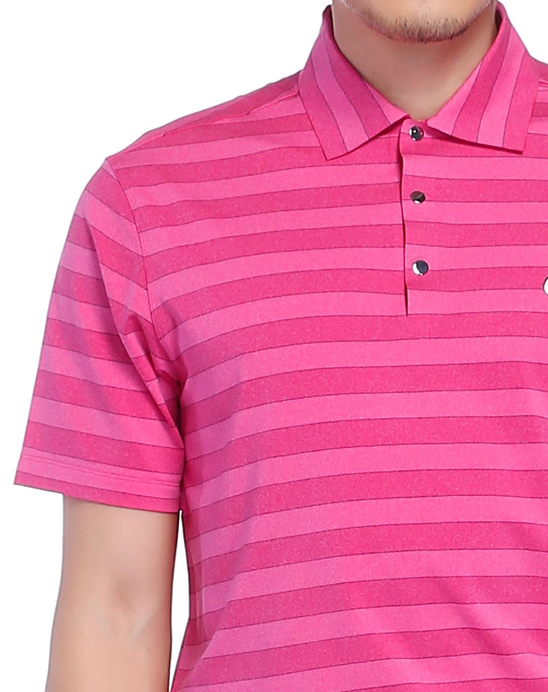 玫红色短袖polo衫-65