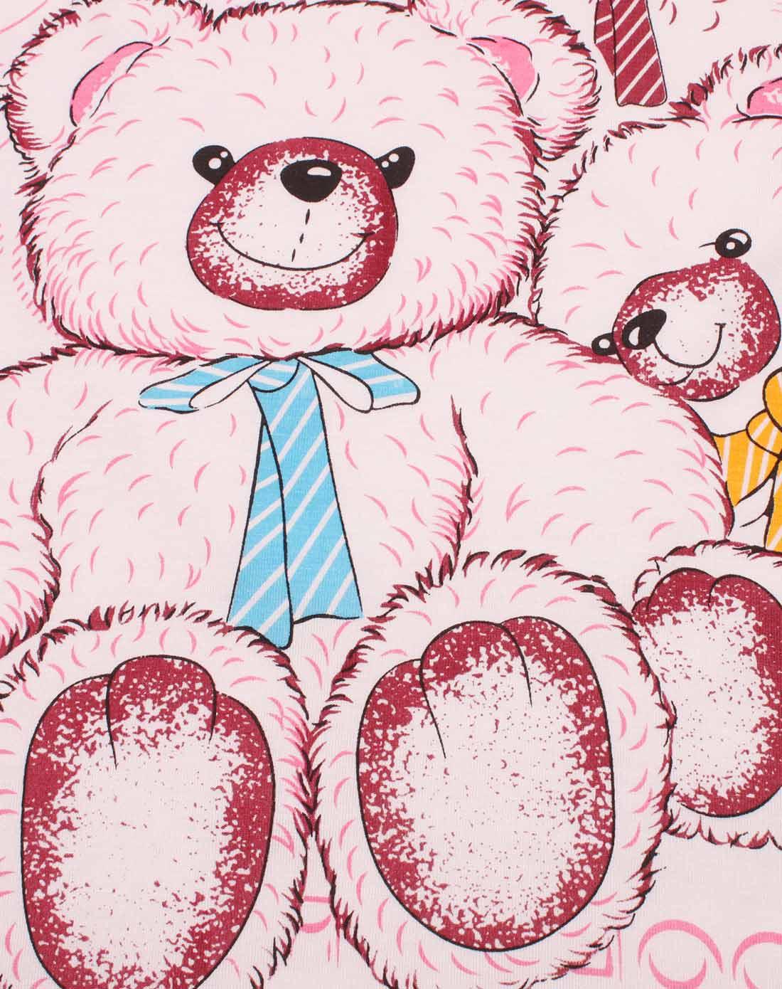女童三只熊图案儿童卡通印花背心裙