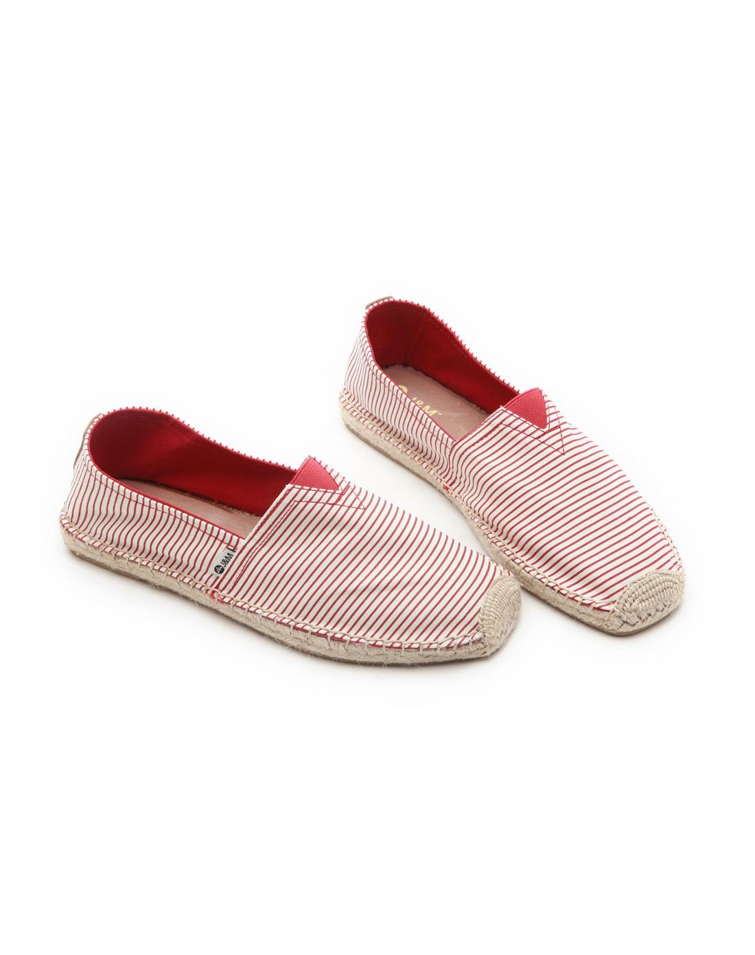 快乐玛丽j&m男女鞋春夏新款低帮条纹帆布鞋潮休闲男