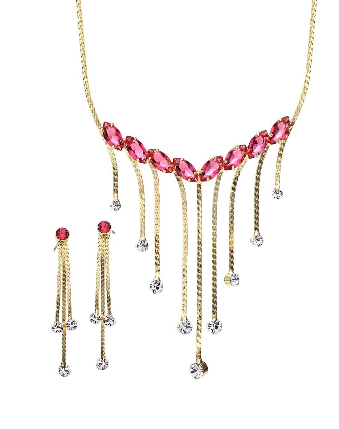 新光饰品专场-流苏点钻套装耳环项链