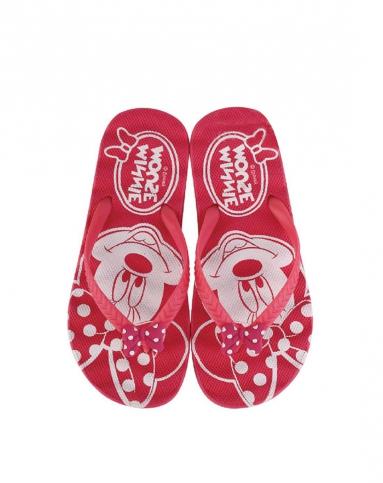 女童西瓜红卡通拖鞋