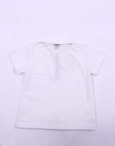 男童白短袖t恤图片