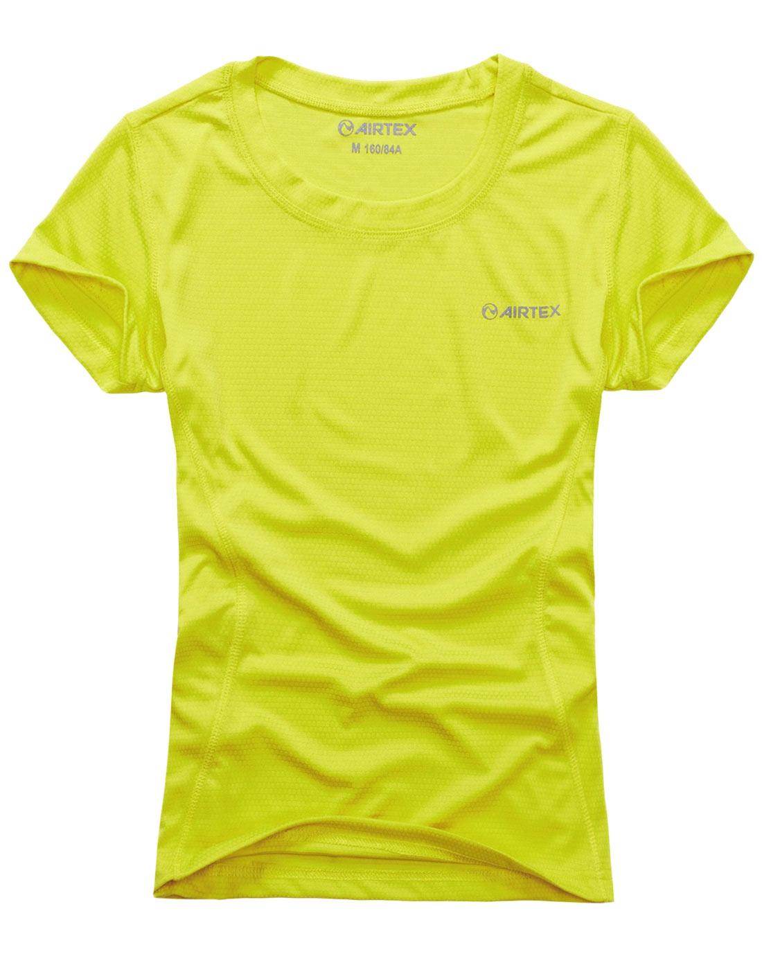 女式荧光绿短袖t恤
