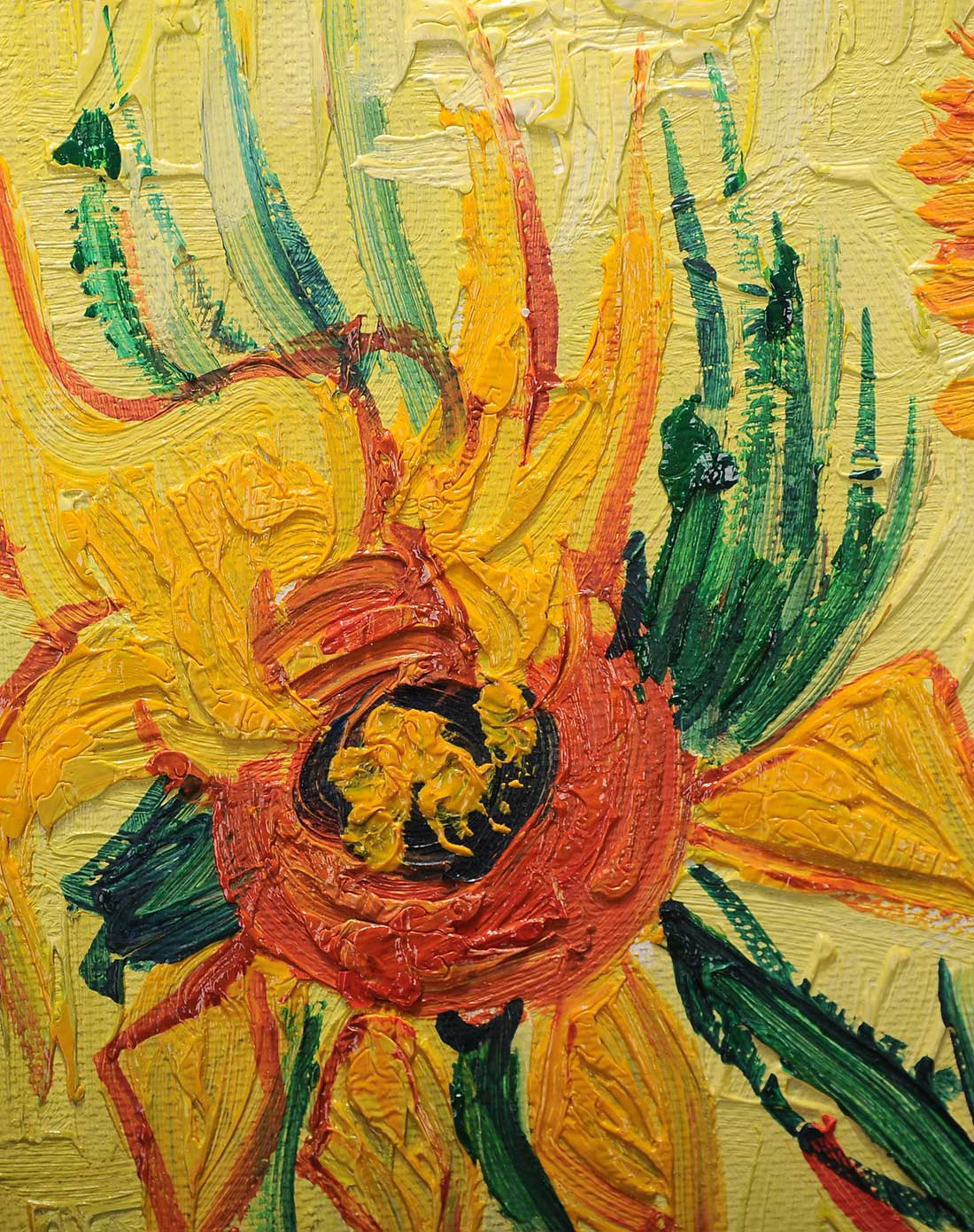 纯手绘油画-梵高盛开的向日葵
