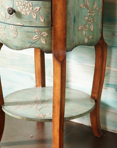 欧式古典手绘床头柜边柜