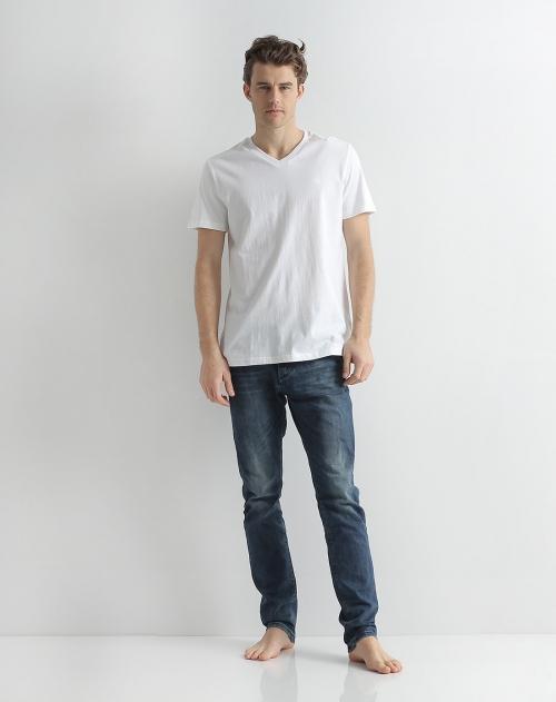 纤丝鸟 男款漂白色半袖衫