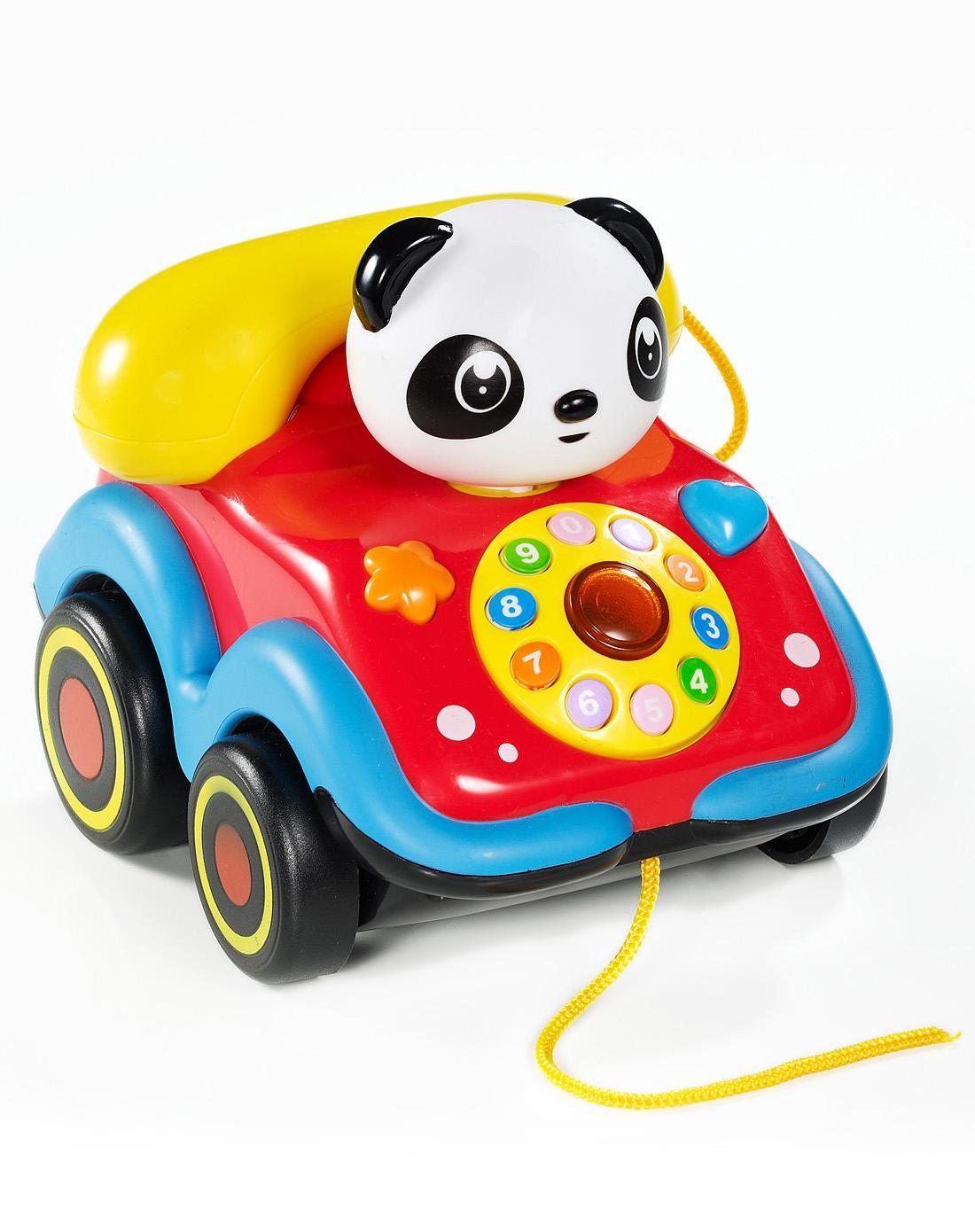 摇头小动物音乐电话车-熊猫 2-2035-1