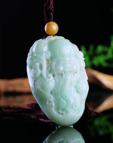晶萃轩ching sui hin玉石贵重专场-超细腻超完美大师设计精雕饱满寿星