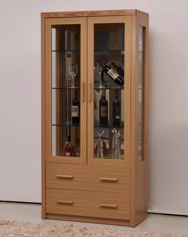 木工做2.4米长的酒柜效果图