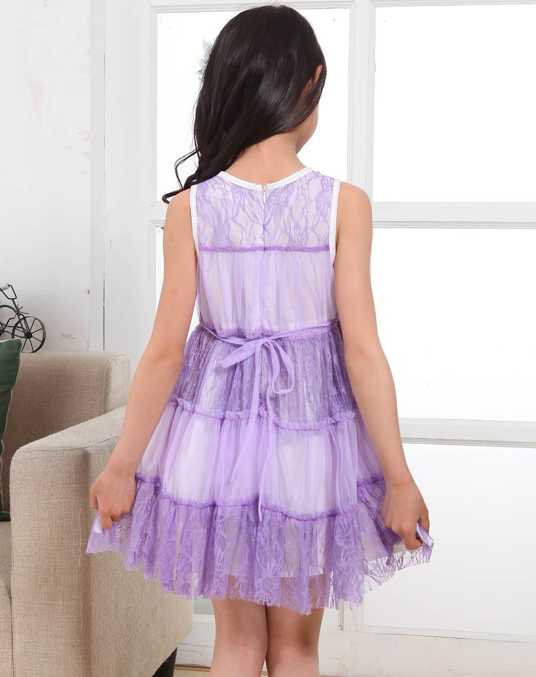 蕾丝无袖公主裙22q0260