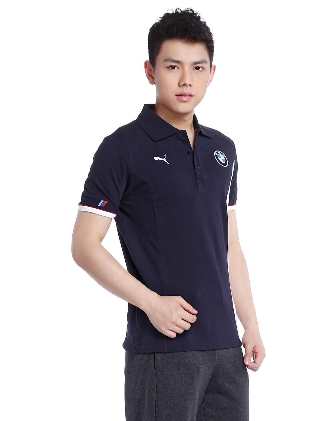 男款宝马赛车系列蓝色短袖t恤