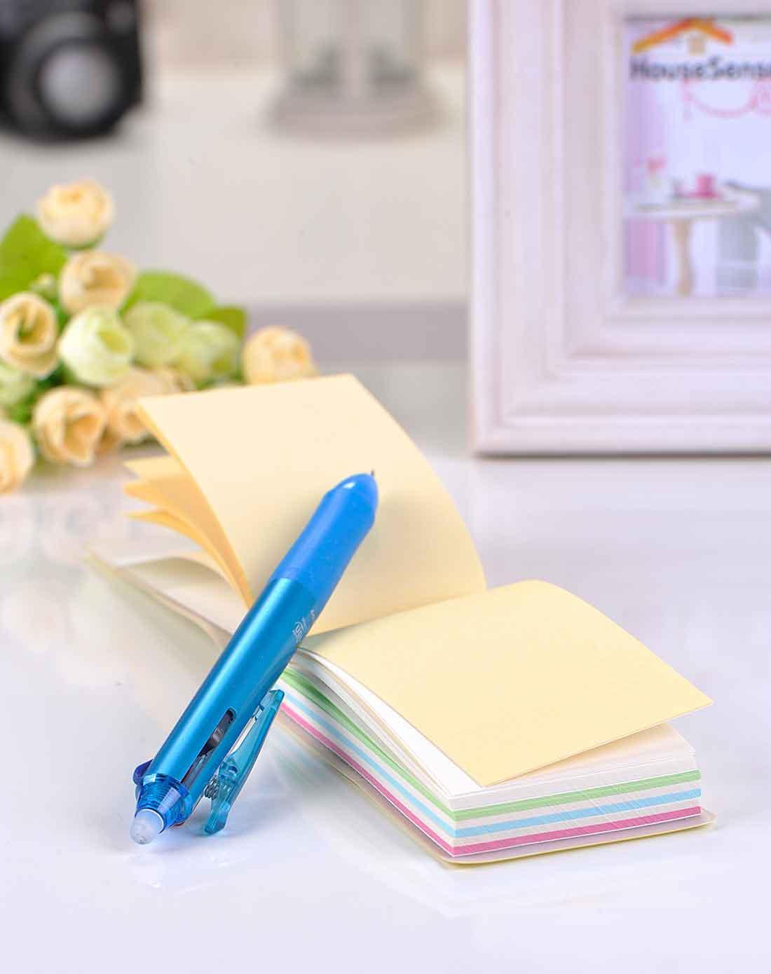 > 黄色可爱笑脸长条便签本