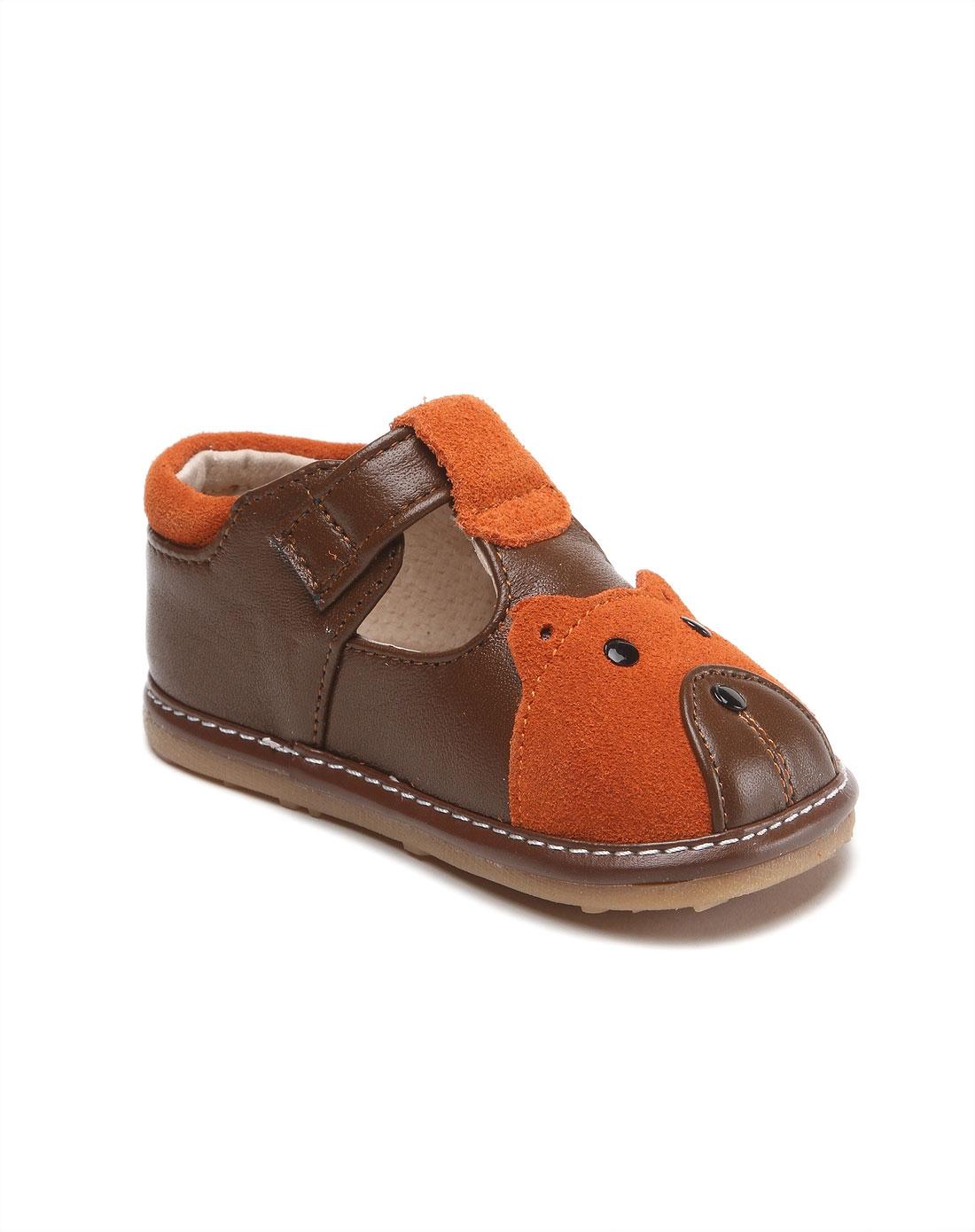 男童深棕色可爱休闲宝宝鞋
