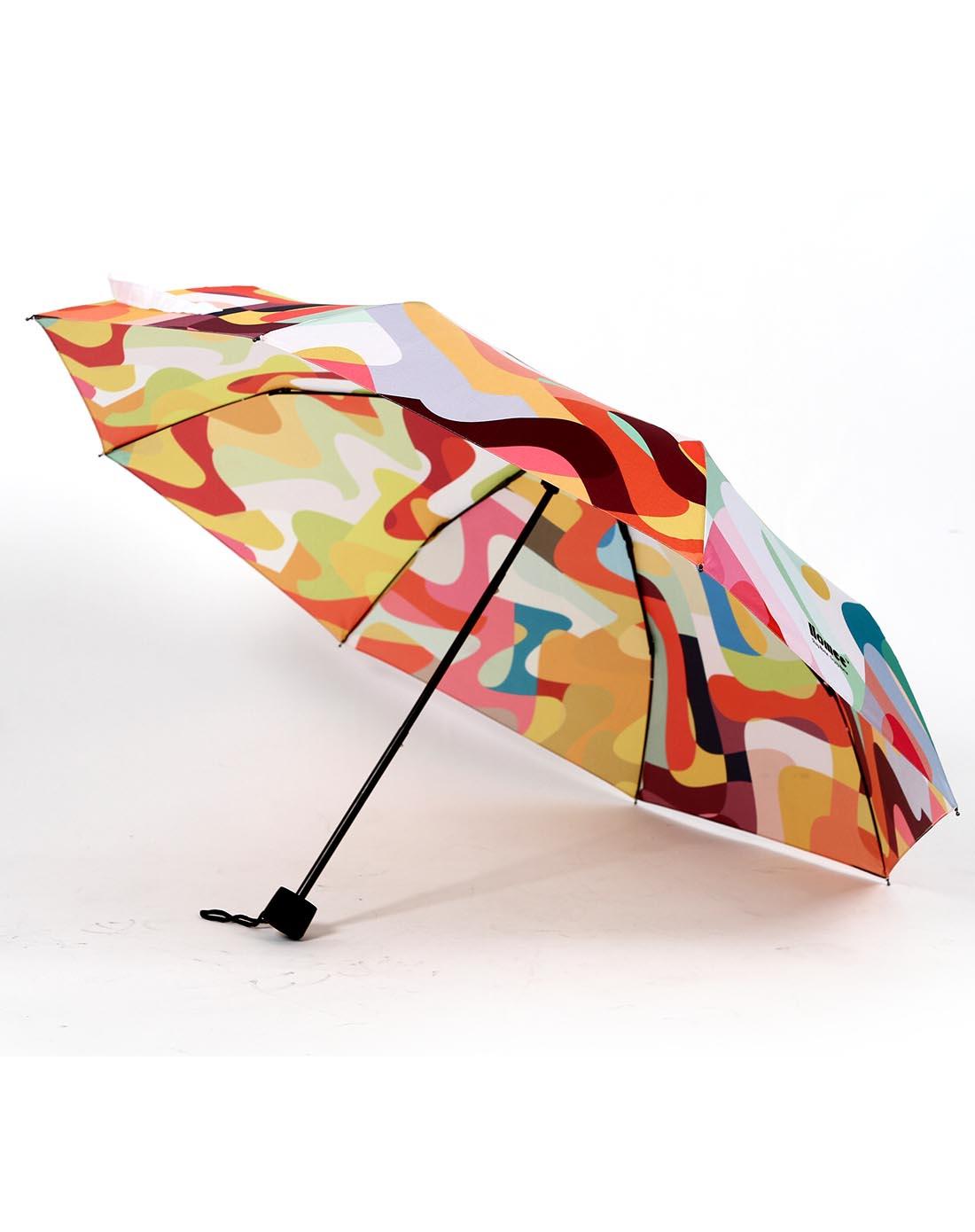 倒影创意图案三折雨伞