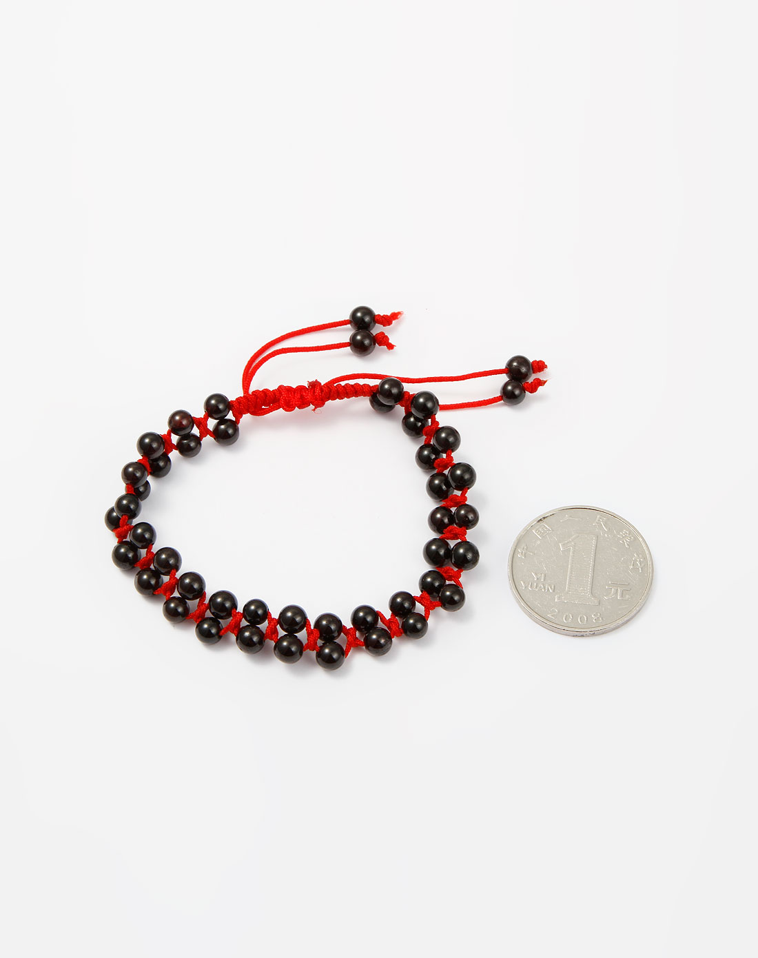 暗红色石榴石手编绳手链