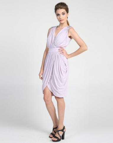 连衣裙淡紫色