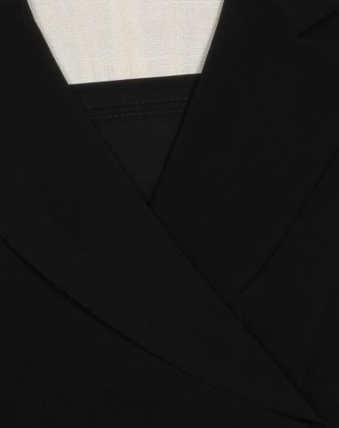 简约黑色纯色短袖连衣裙