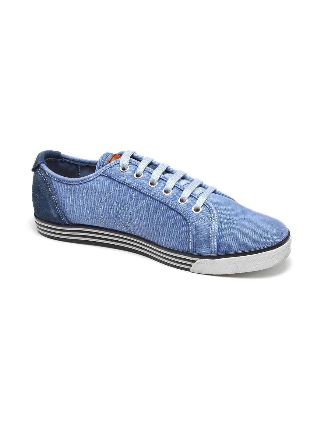 健乐士geox男女鞋男款复古风蓝色帆布鞋u2287r01022c