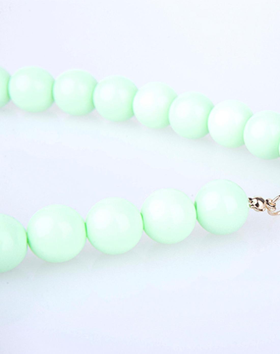 女童绿色彩蝶飞舞儿童手工串珠项链