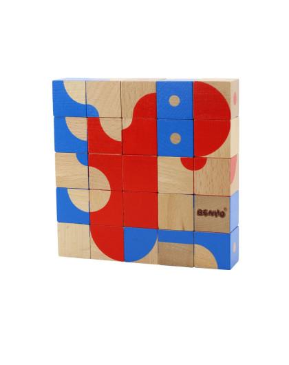 红蓝积木拼图