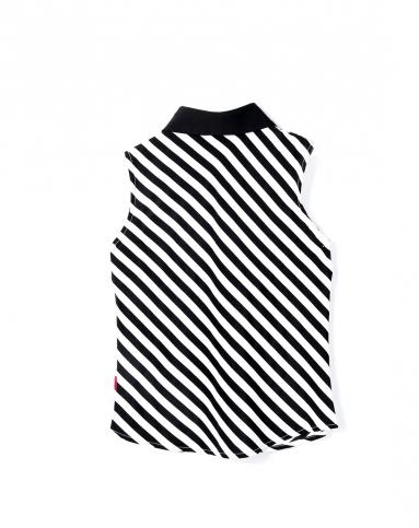 女童黑白条衬衫