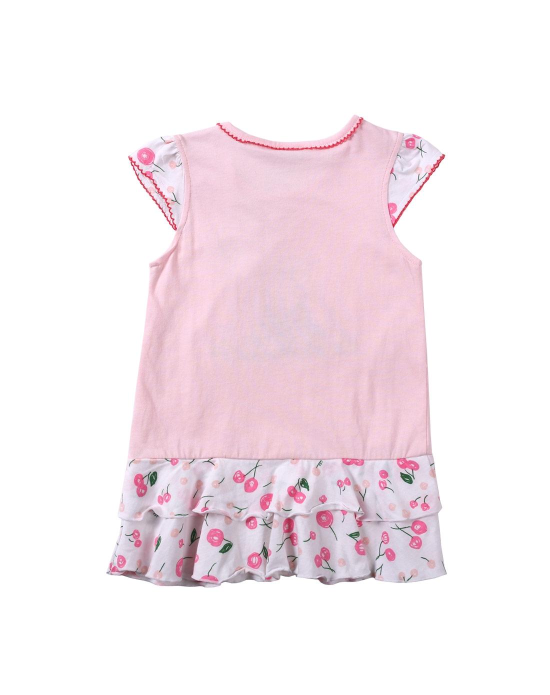 女童浅粉色花边小裙子