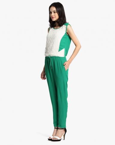 松绿色时尚连身裤图片
