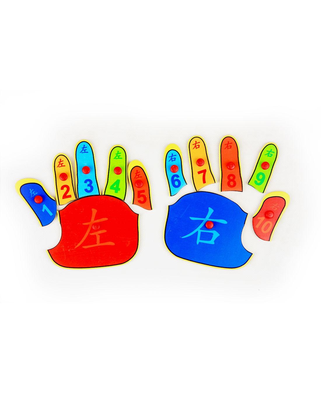 海绵宝宝等益智玩具特宝儿 左右手主题数字认知拼版e6