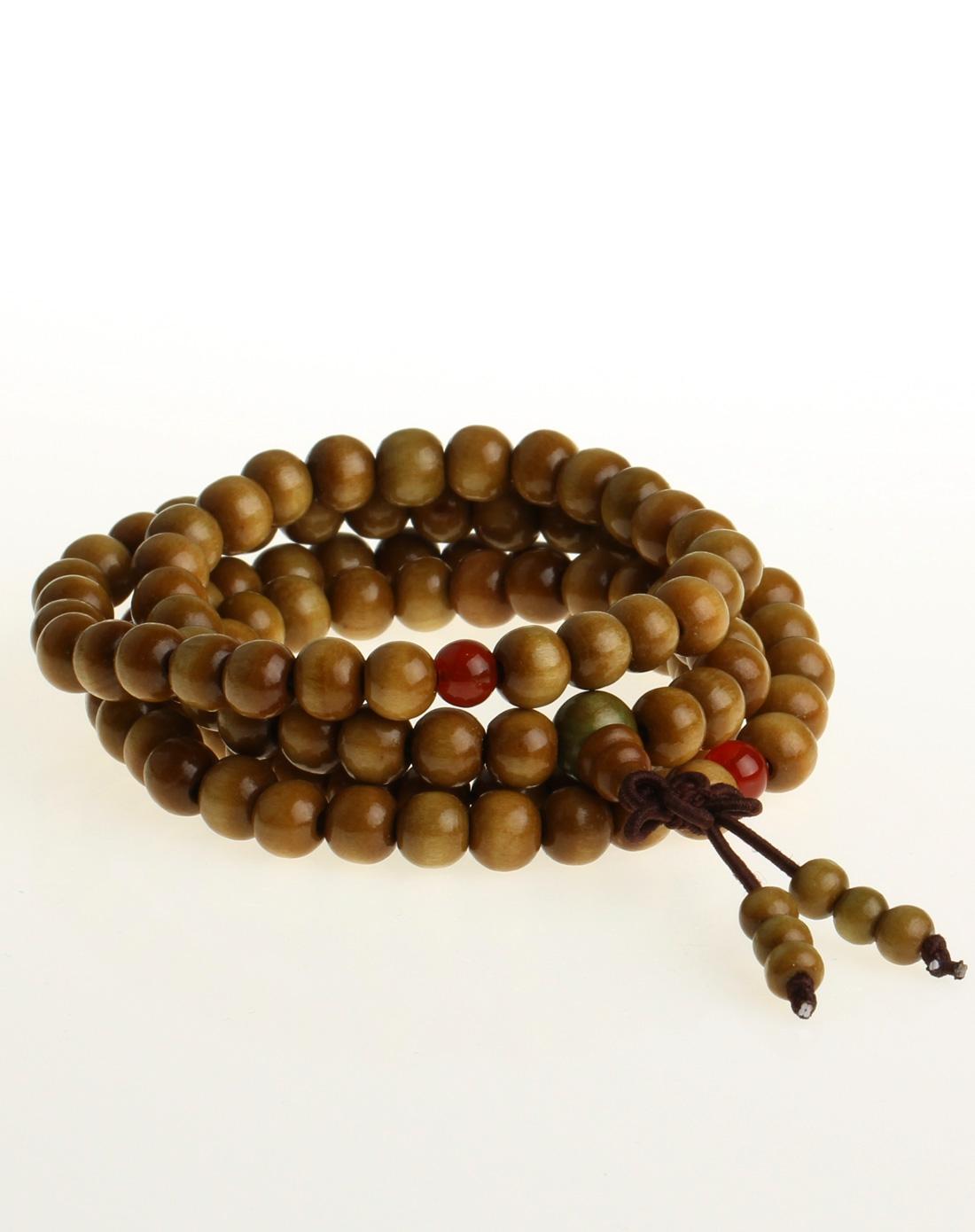 尚檀香木质佛珠手链