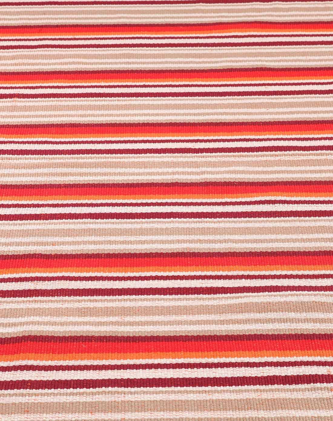 luxman家具专场栎棐全棉手工彩条地毯vdt51009