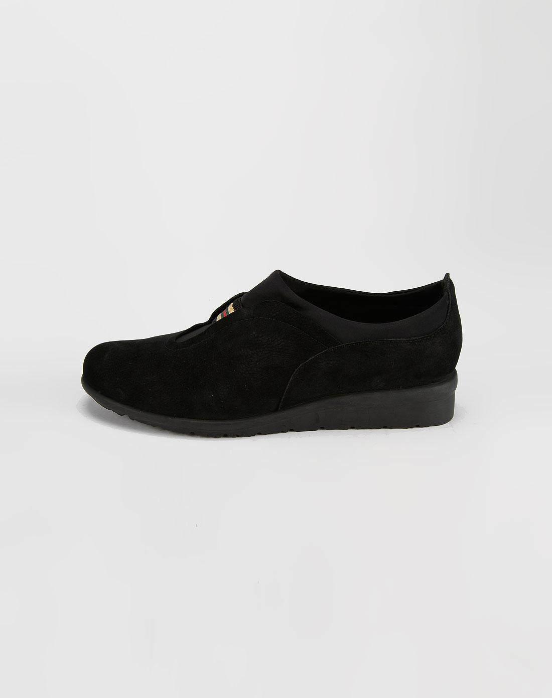 森达senda-女款黑色牛皮鞋2
