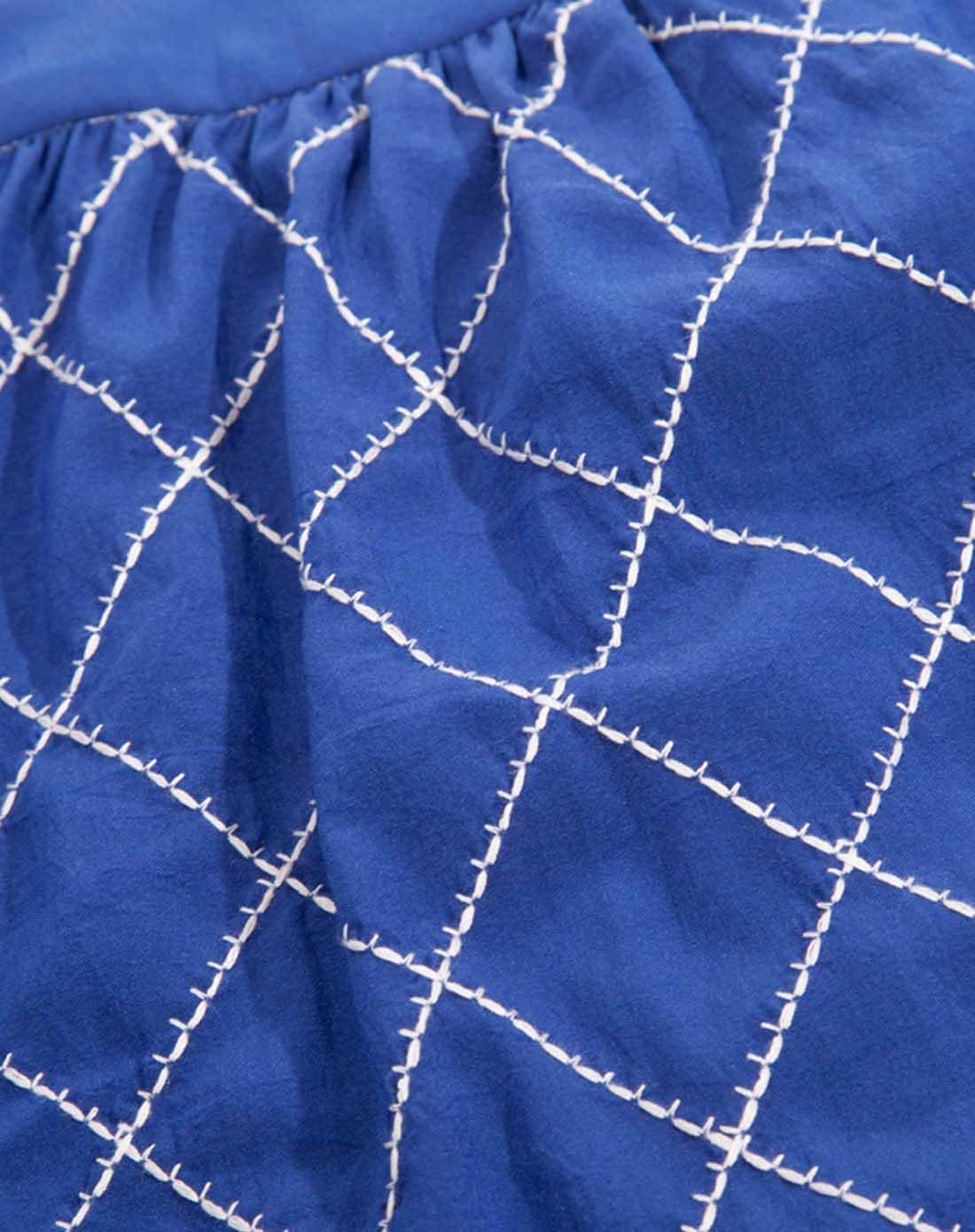 菱格纹深蓝色吊带上衣