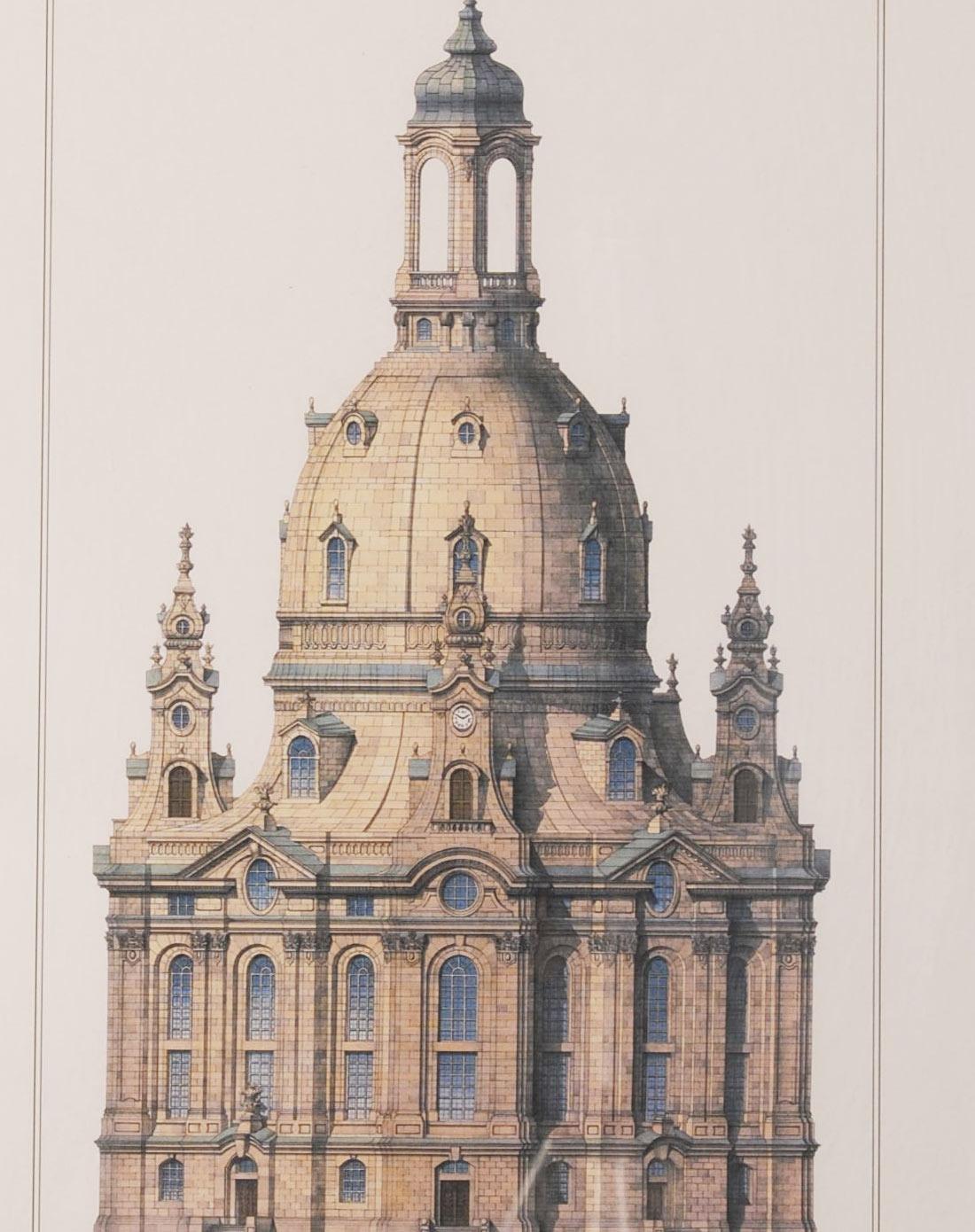 城堡线描装饰画