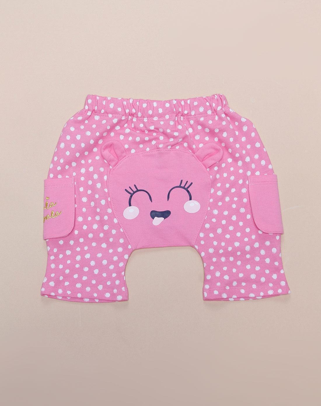可爱卡通粉红色短裤