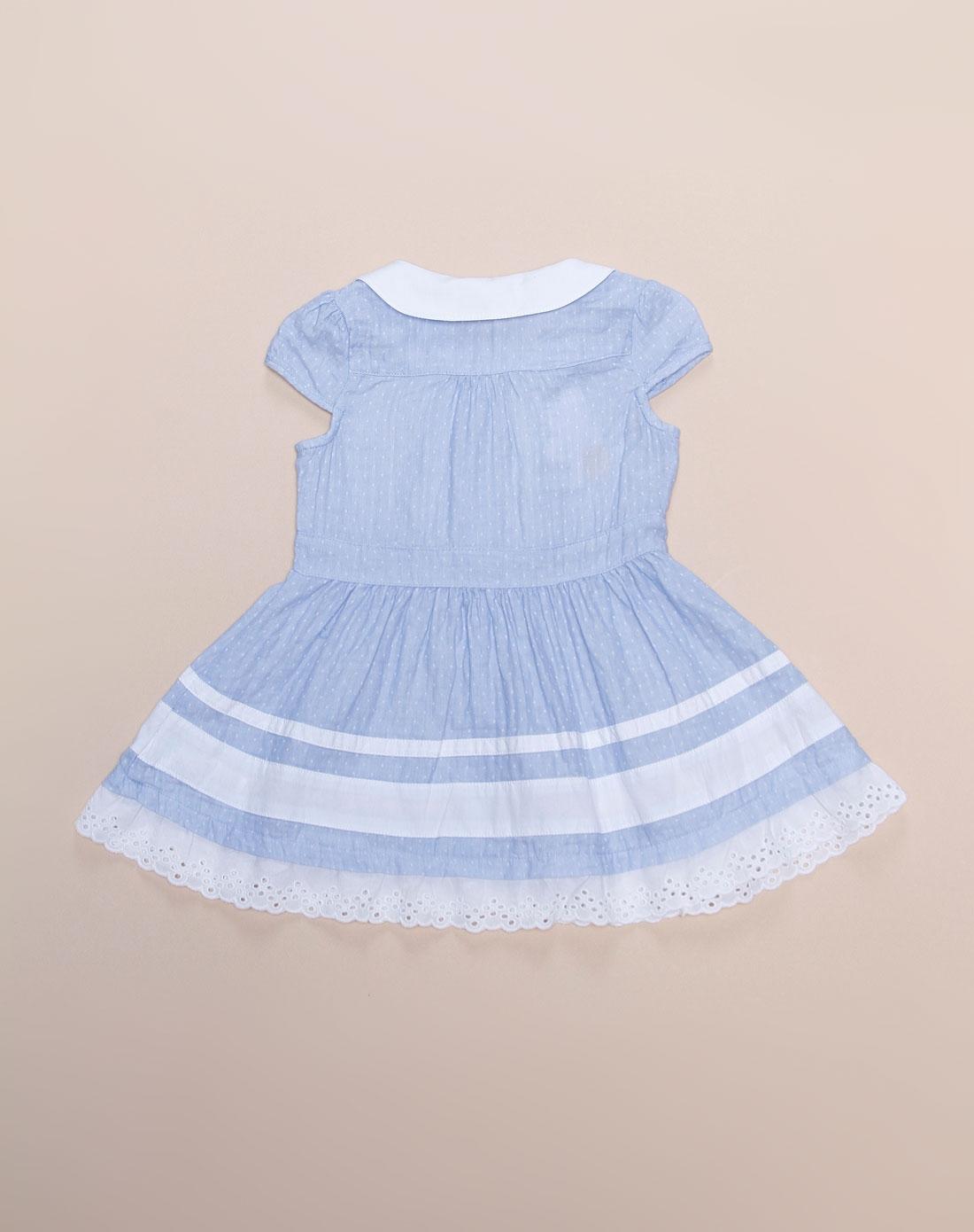 可爱公主粉蓝色短袖