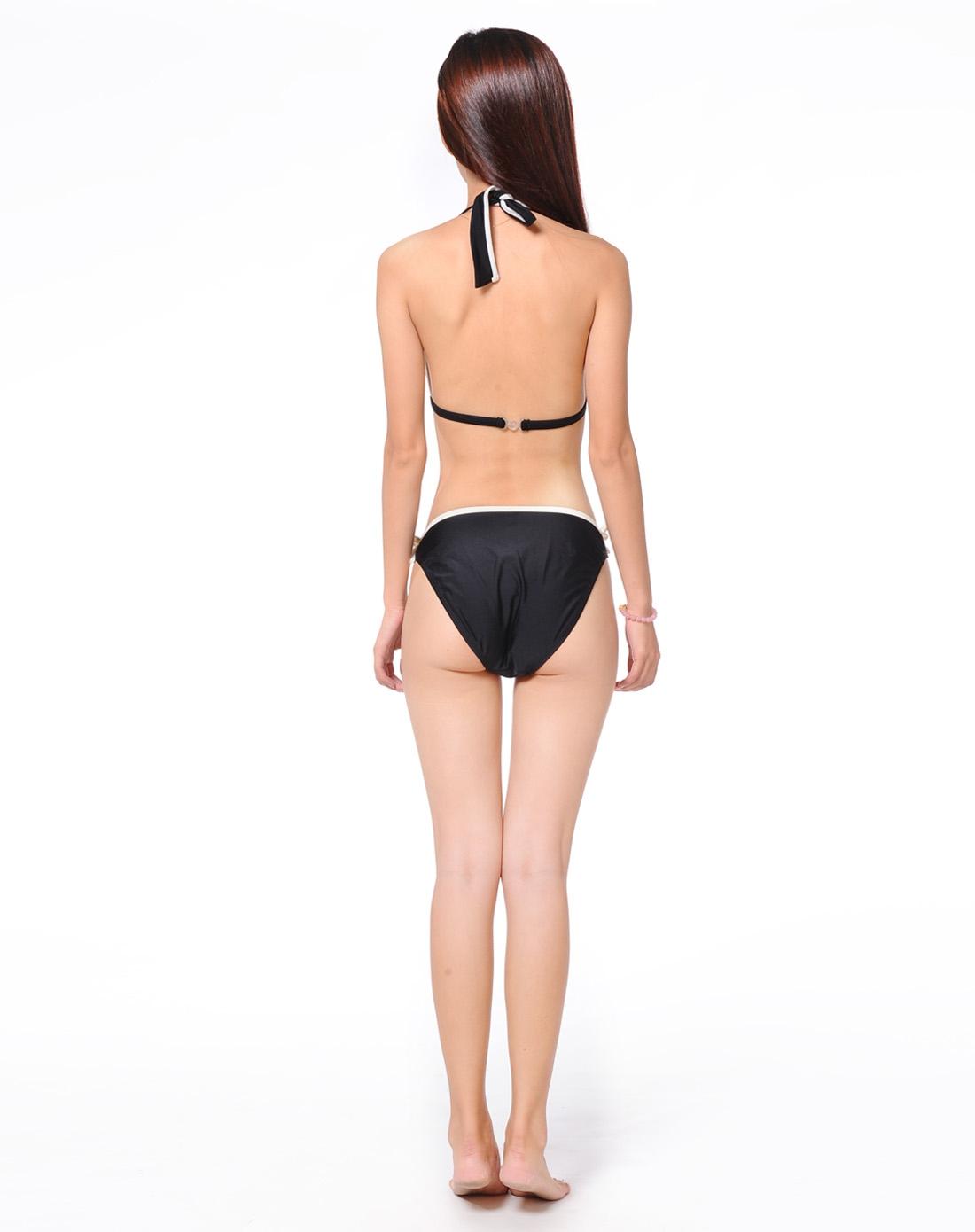 女黑礹/&�yi)��-z)�bi_女款黑色比基尼 舒适时尚
