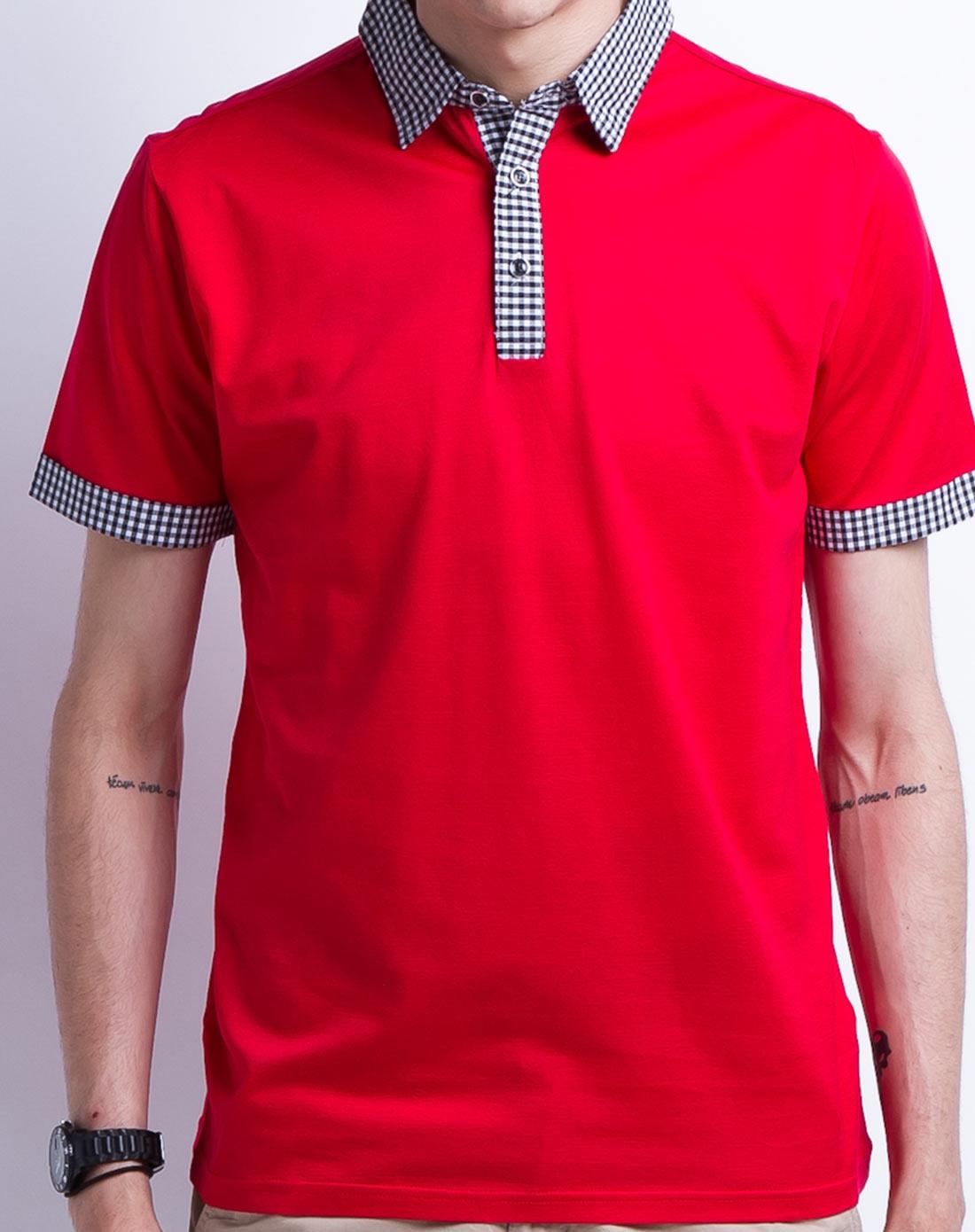 大红色男装印花短袖t恤