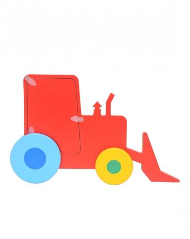 儿童玩具solini木制立体活动相框(推土车)2835_唯品会