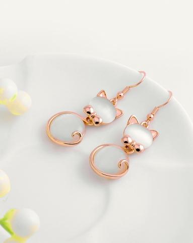 可爱萌萌福猫耳环