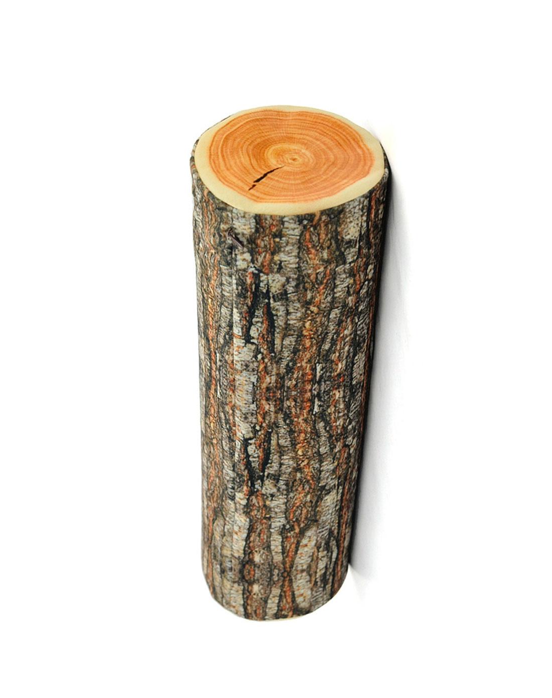 普润 创意高仿真靠垫圆柱木桩